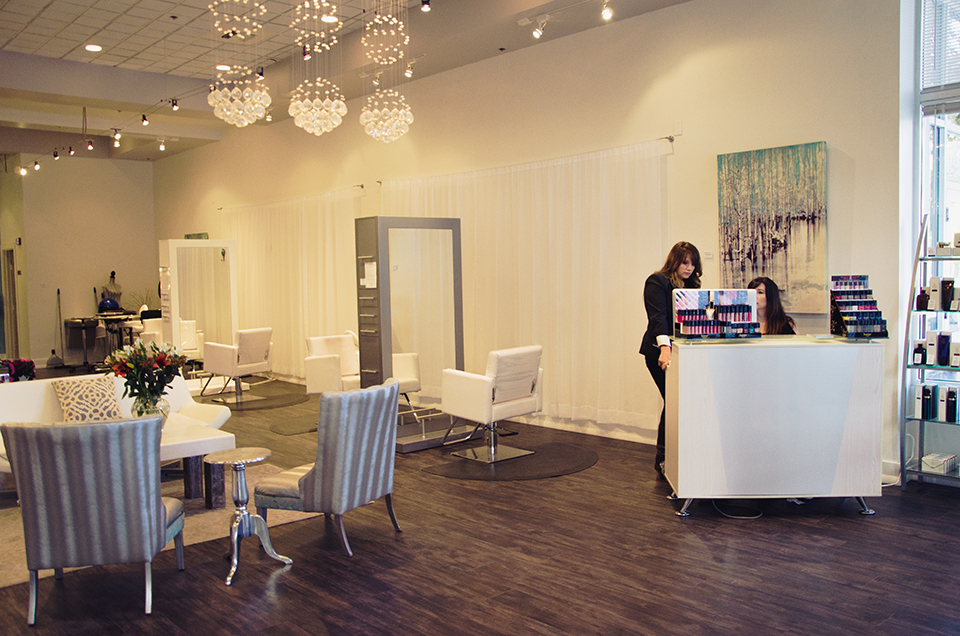 interior salon pictures for fete stylebar in boise, id by erika astrid
