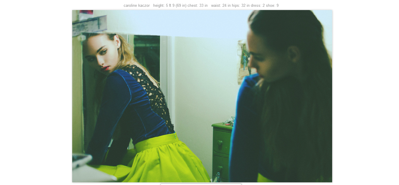 screenshot of website with images by erika astrid